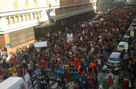 Sciopero sociale, Roma, 14 Nov 2014.