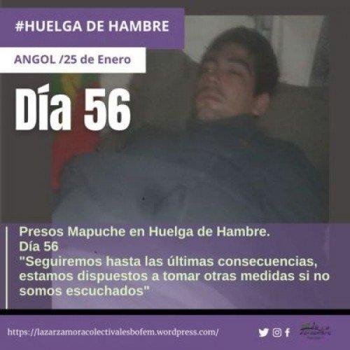 Nazione Mapuche: Carcere di Angol, comunicato dei prigionieri politici in sciopero della fame