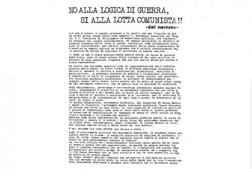 2 giugno 1980 : I detenuti/e comuniste/i delle carceri di Padova e Venezia