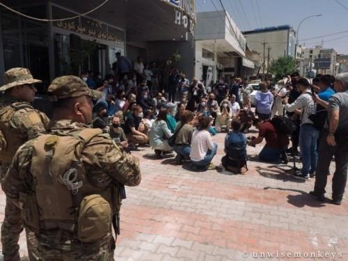 INTIMIDAZIONI E SPARI CONTRO LA DELEGAZIONE INTERNAZIONALE NEL KURDISTAN IRACHENO