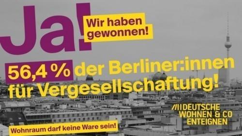 BERLINO: REFERENDUM, SI ALL'ESPROPRIO DI ABITAZIONI DI PROPRIETA' DI GRANDI GRUPPI IMMOBILIARI PER FARNE CASE POPOLARI