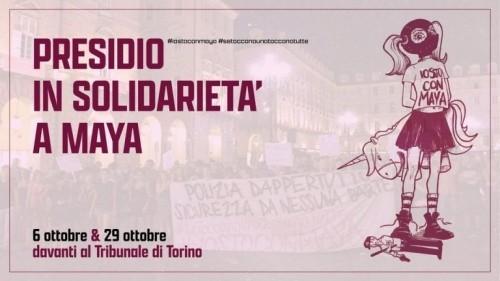 TORINO: PRESIDIO IN SOLIDARIETA' A MAYA