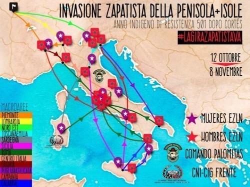 Attenzione: zapatiste/i in Italia